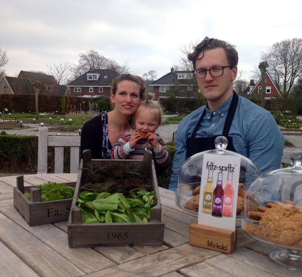 nieuwe leiding en concept tuincafé